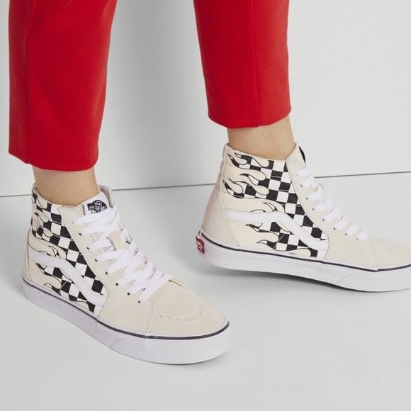 Vans Shoes | Vans Sk8hi Checker Flame